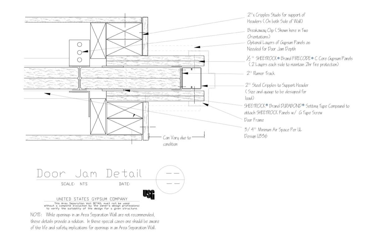 Usg Design Studio 09 21 16 33 382 Area Separation Wall