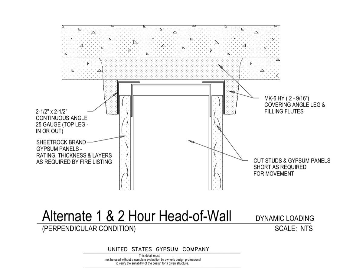 2 Hour Rated Wall Detail : Usg design studio hr download details