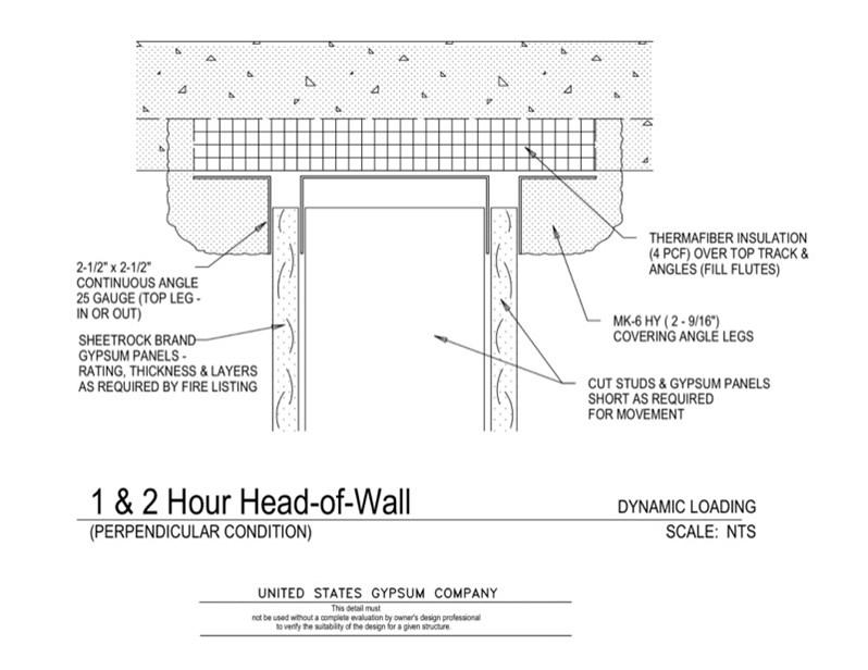 Usg Design Studio 09 21 Head Of Wall Detail 1 2hr Rated Download Details