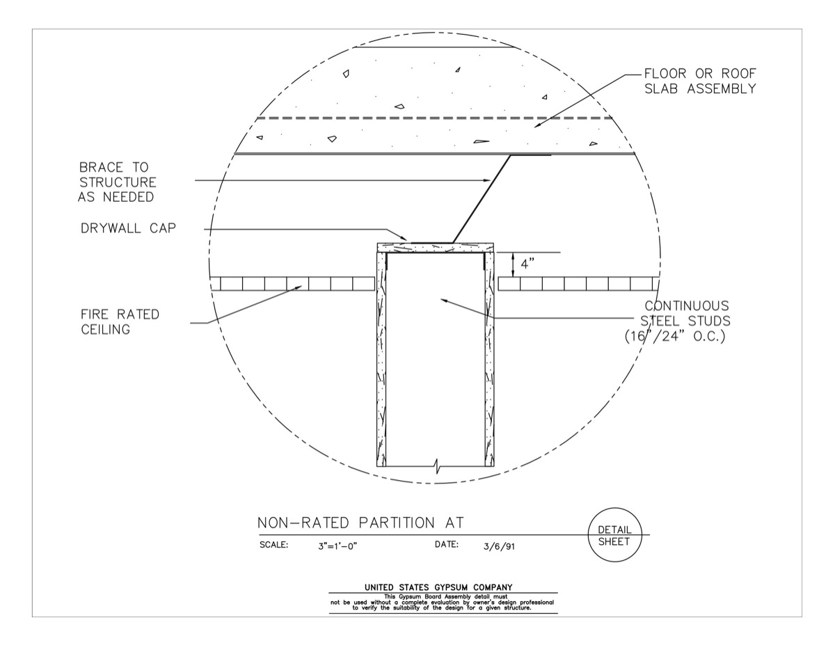 09 21 16 434 Gypsum Board Assembly Wall Floor Intersection