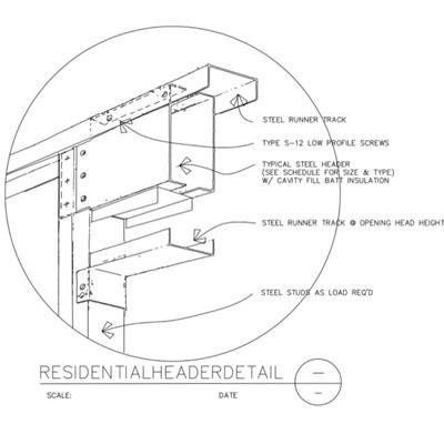 USG Design Studio | Steel Header - Download Details