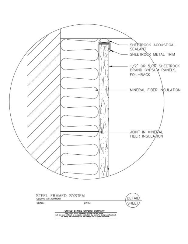 09 21 16.63.331 Light Steel Framing Steel Framed System at Ceiling ...