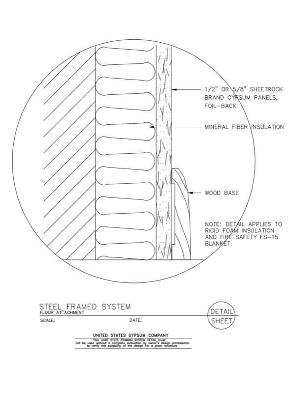 metal framing diagram. Wonderful Diagram 09 21 1663431 Light Steel Framing Framed System At Floor Attachment Inside Metal Diagram