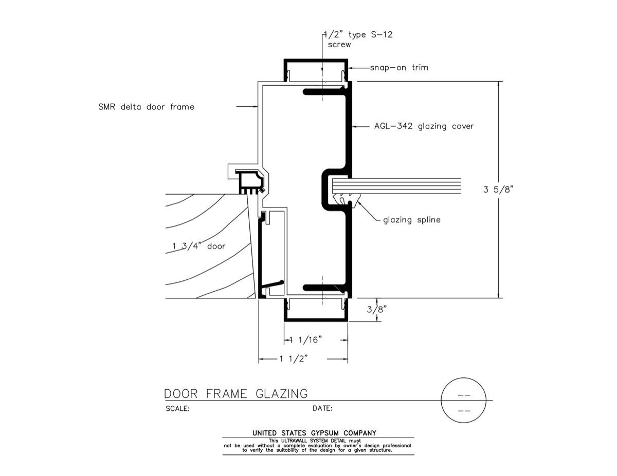 Aluminum Door: Aluminum Door Jamb Detail
