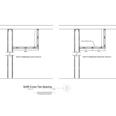 09 21 16.93.002 DWSS Soffit Cross Tee Spacing