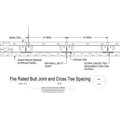 09 21 16.93.003 DWSS Fire Rated Butt Joint and Cross Tee Spacing