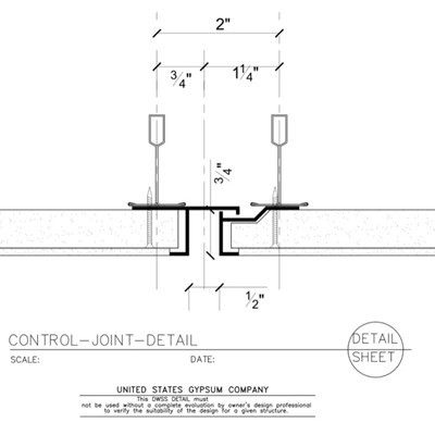 09 21 16.93.101 DWSS Control Joint