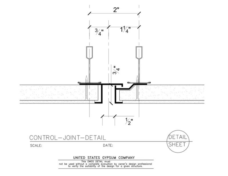 Usg Design Studio 09 21 16 93 101 Dwss Control Joint