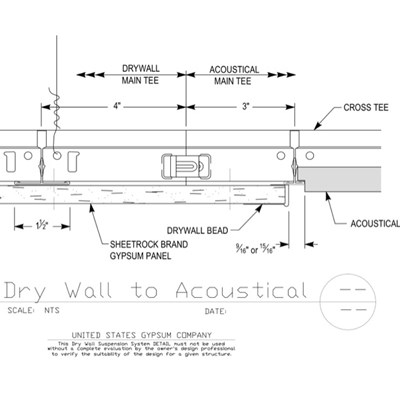 09 21 16.93.171 09 51 13.171 DWSS Drywall to Acoustical Factory End