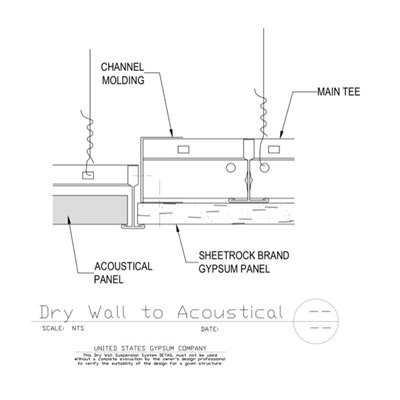 09 21 16.93.172 09 51 13.172 DWSS Drywall to Acoustical Flush