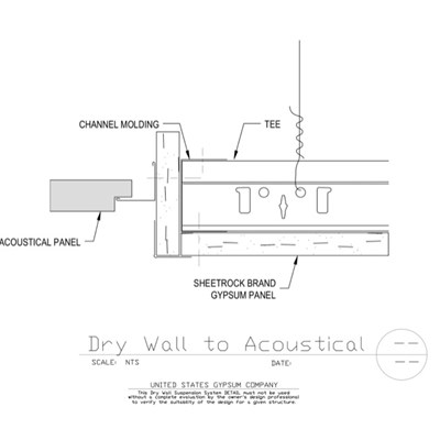 09 21 1693173 51 13173 DWSS Drywall To Acoustical Offset