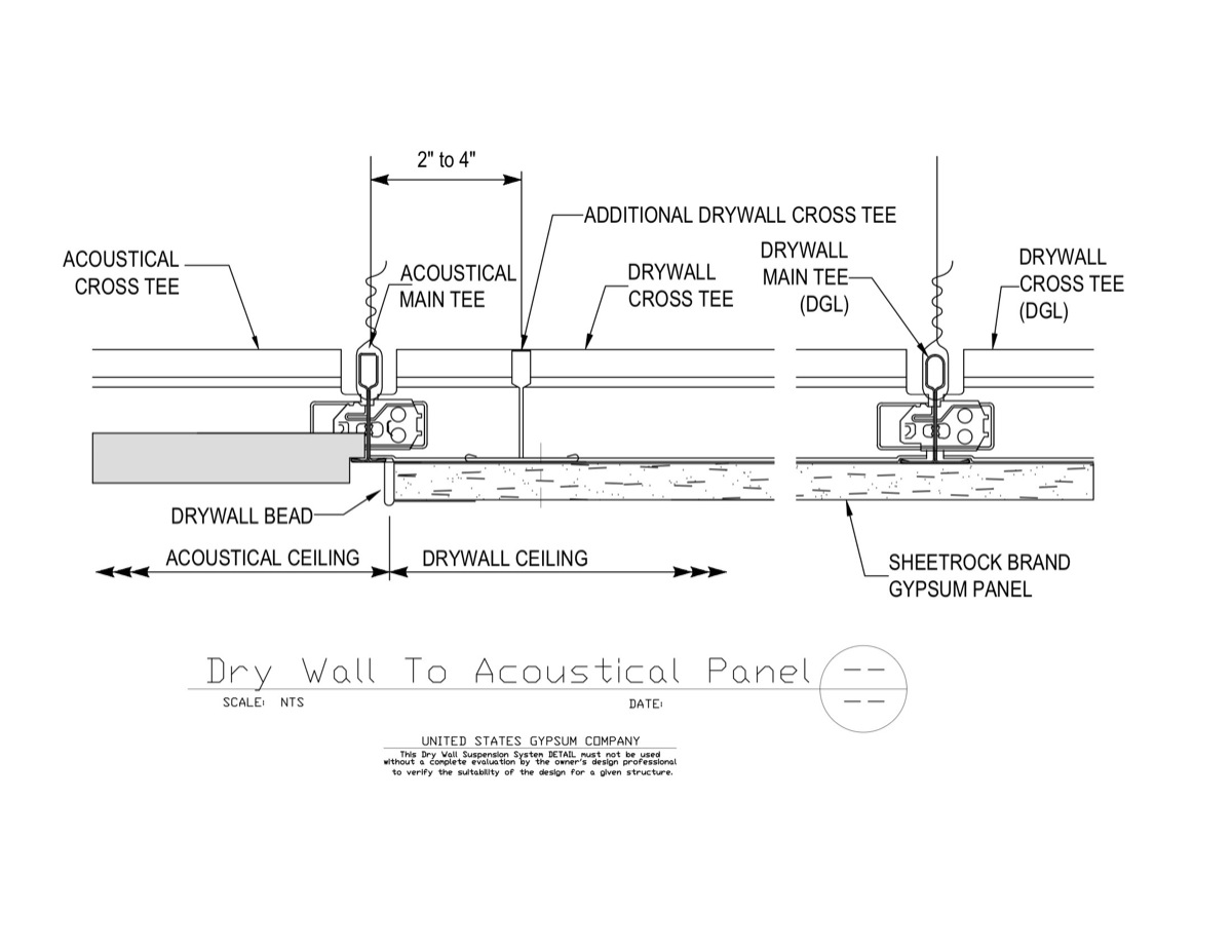 09 21 16 93 175 09 51 13 175 Dwss Drywall To Acoustical