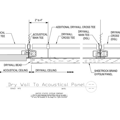 09 21 16 93 175 51 13 Dwss Drywall To Acoustical Panel Transition