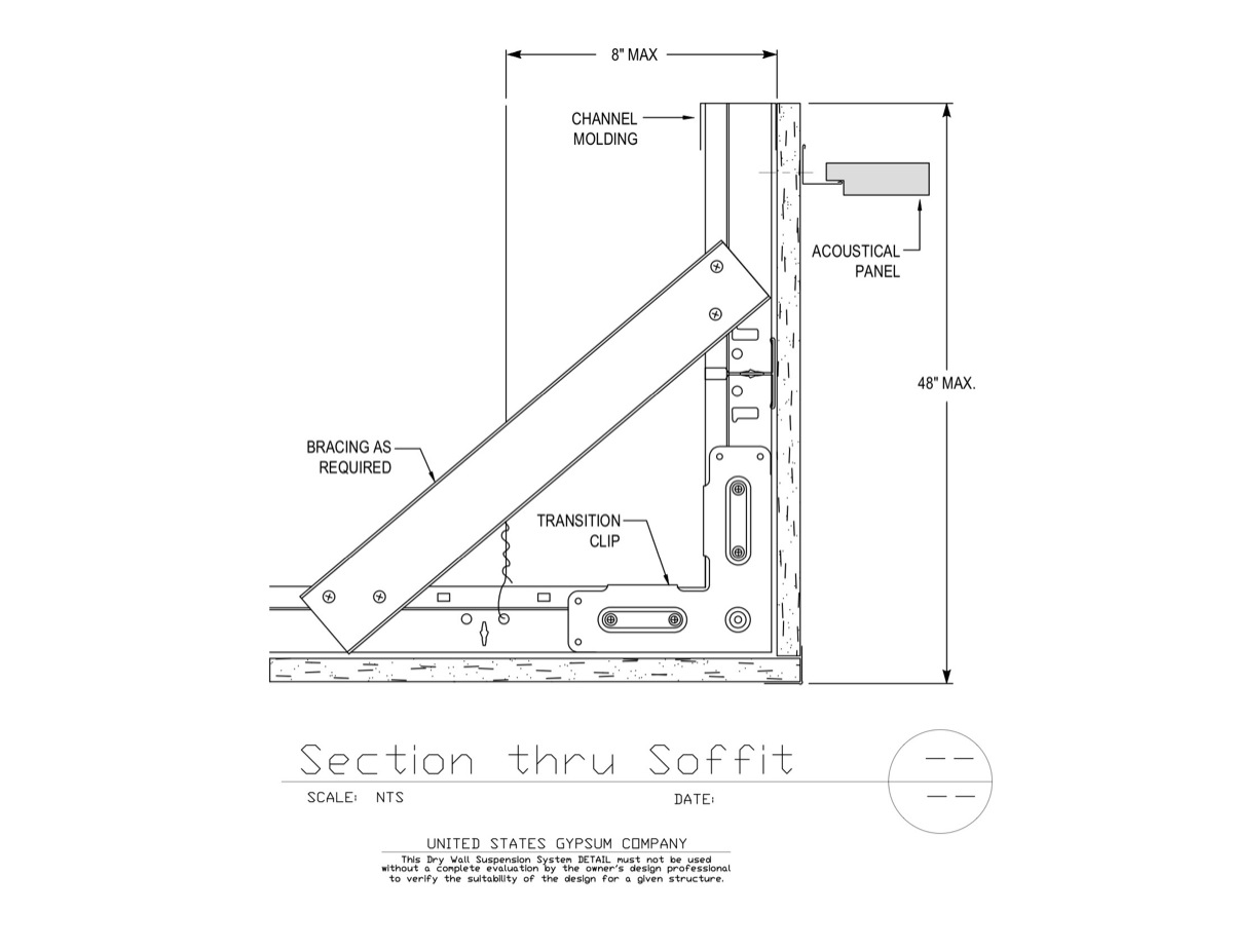 Usg Design Studio Drywall Suspension System Section
