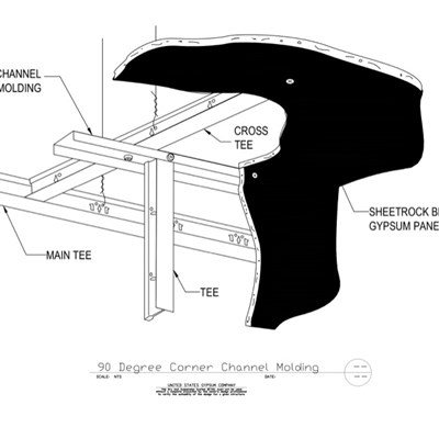09 21 16.93.221 DWSS 90 Degree Corner Channel Molding