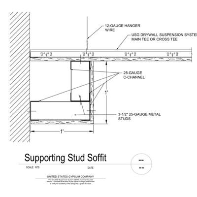 09 21 16.93.231 DWSS Supporting Stud Soffit