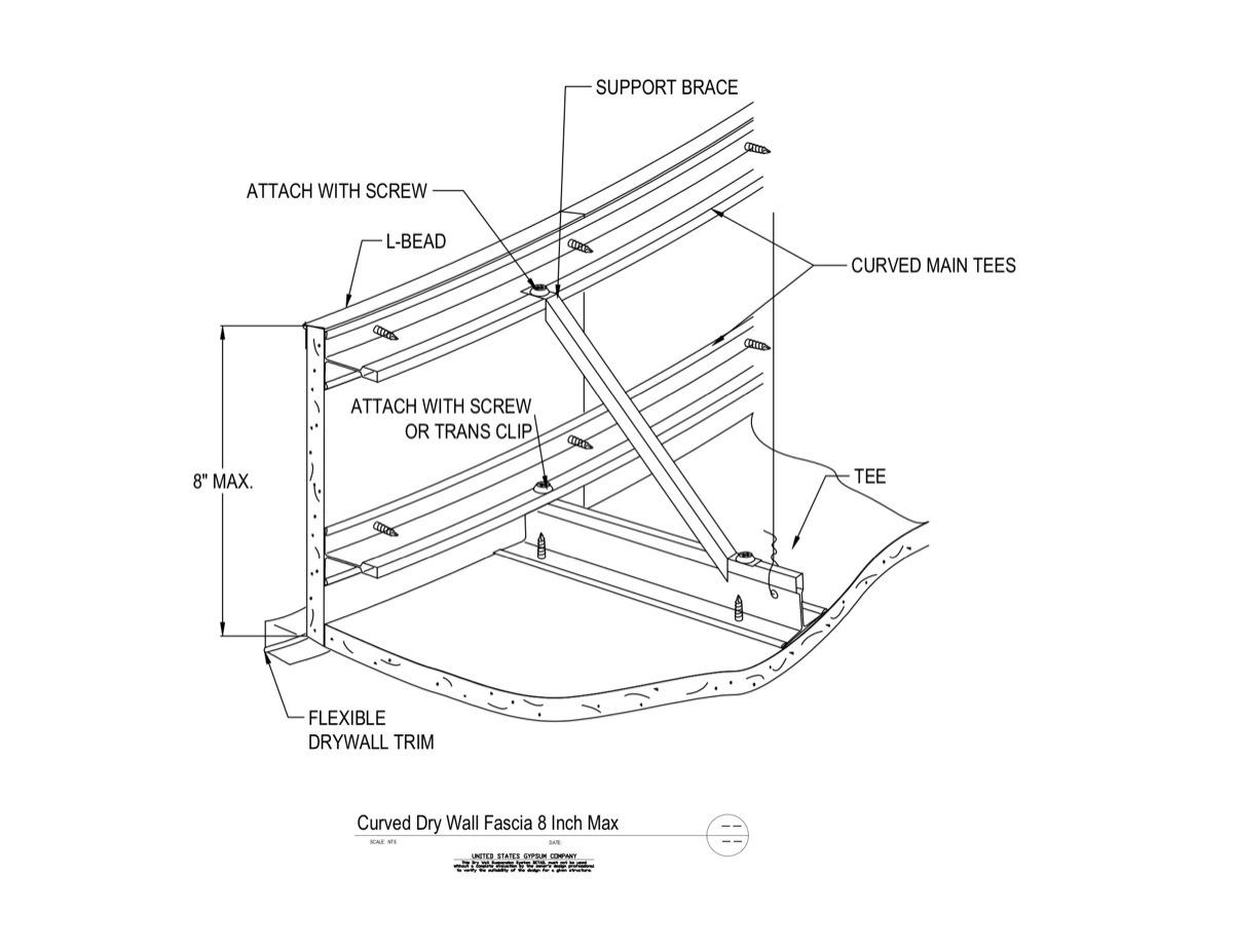 Usg Design Studio Drywall Suspension System Transition