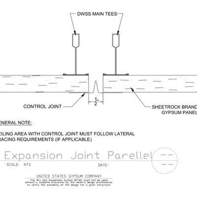 09 21 16.93.271 DWSS Expansion Joint Parallel