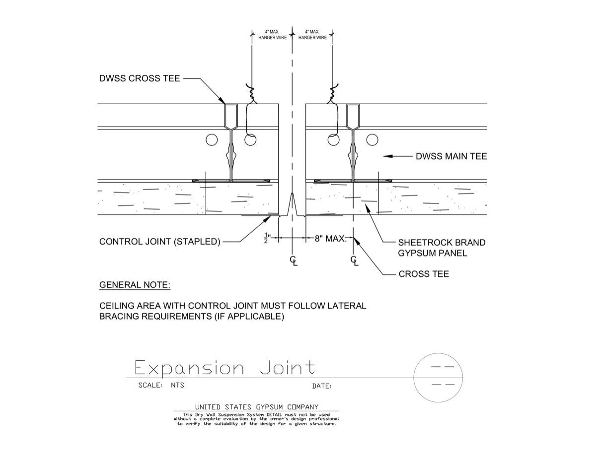 Usg Design Studio 09 21 16 93 273 Dwss Expansion Joint