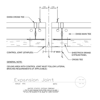 09 21 16.93.273 DWSS Expansion Joint Perpendicular