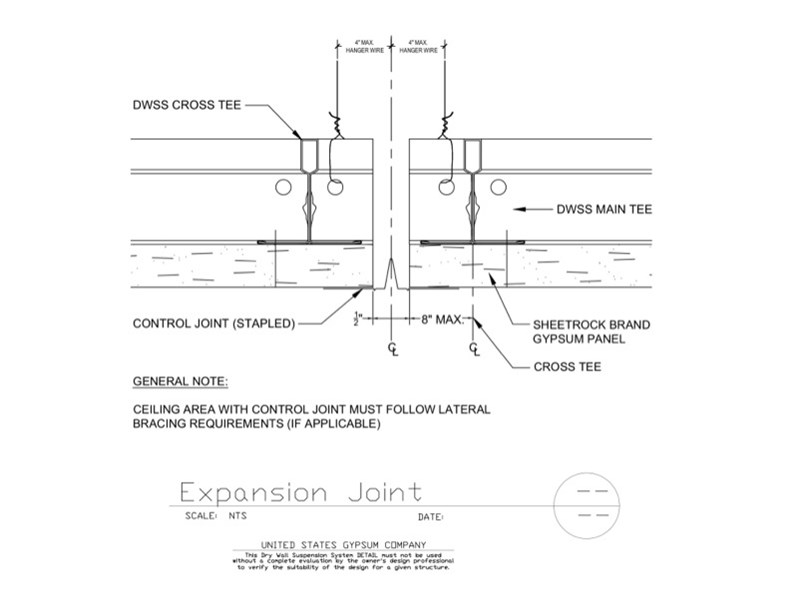 Usg Design Studio 09 21 16 93 273 Dwss Expansion Joint
