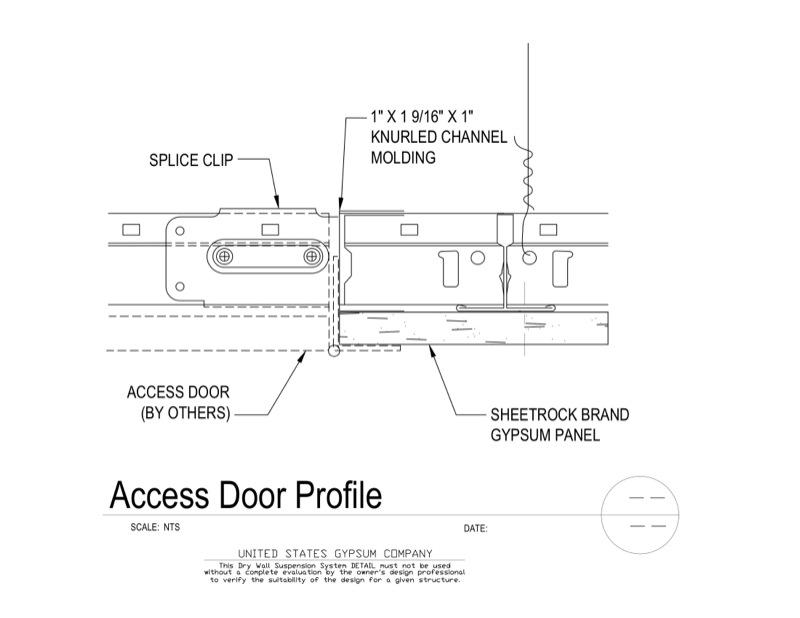 09 21 16.93.322 DWSS Access Door Profile