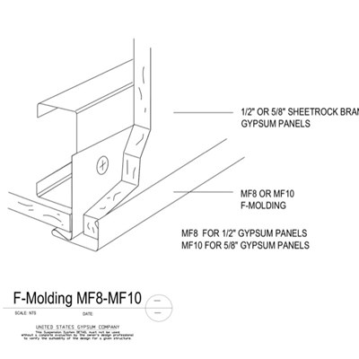 09 22 26.23.1310 Metal Suspension System Structural Support ACT F-Molding MF8-MF10