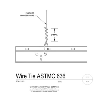 09 22 26.23.1311 Metal Suspension System Structural Support ACT Wire Tie ASTMC636