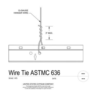 09 22 26.23.1312 Metal Suspension System Structural Support ACT WireTie ASTMC636