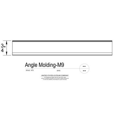 09 22 26.23.131 Metal Suspension System Structural Support ACT Angle Molding 3DM9