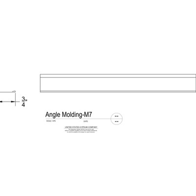 09 22 26.23.132 Metal Suspension System Structural Support ACT Angle Molding M7