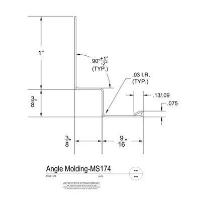 09 22 26.23.135 Metal Suspension System Structural Support ACT Angle Moldings MS174