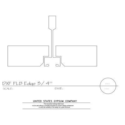 09 51 13.152 Acoustical Ceilings Fineline Beveled Edge Fineline DXF Grid