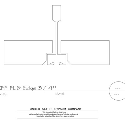 09 51 13.153 Acoustical Ceilings Fineline Beveled Edge Fineline DXFF Grid
