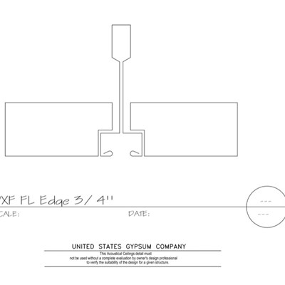 09 51 13.154 Acoustical Ceilings Fineline Edge Fineline DXF Grid