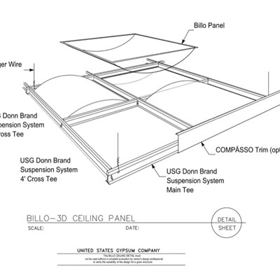 09 53 13.03.111 Specialty Ceilings Billo 3D Ceiling Panels