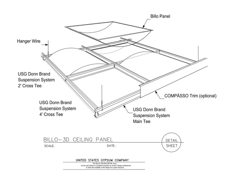 09 53 13 03 111 Specialty Ceilings Billo 3d Ceiling Panels