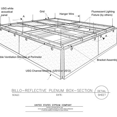 09 53 13.03.112 Specialty Ceilings Billo Custom Reflective Plenum Box