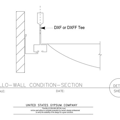 09 53 13.03.124 Specialty Ceilings Billo Section at Wall Condition DXF