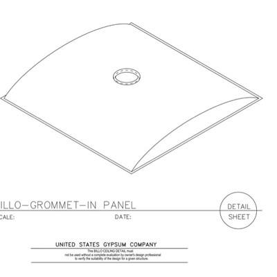 09 53 13.03.134 Specialty Ceilings Billo Grommet Seated in Panel