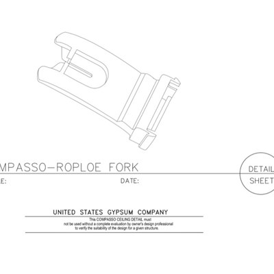 09 54 00.13.1010 Specialty Ceilings Compasso RoPole Fork 50-C2FH