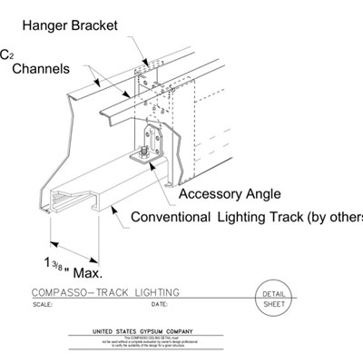 09 54 00.13.1310 Specialty Ceilings Compasso L Track Lighting