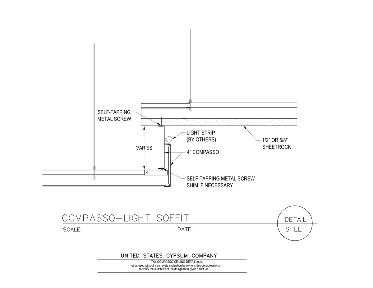 How to build a soffit box with recessed lighting the family handyman - Light Soffit Detail Submited Images