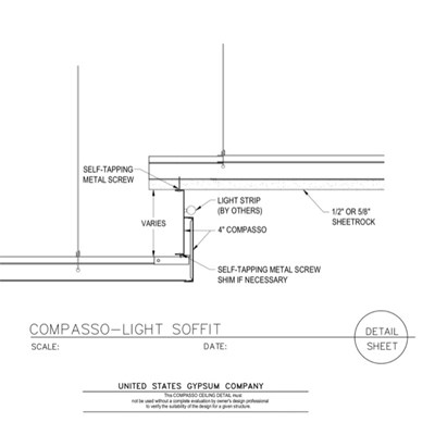 09 54 00.13.133 Specialty Ceilings Compasso ACT Compasso Light Soffit