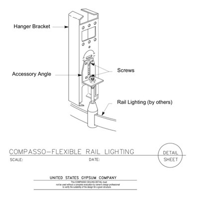 09 54 00.13.137 Specialty Ceilings Compasso I Flexible Rail Lighting
