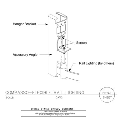 09 54 00.13.138 Specialty Ceilings Compasso J Flexible Rail Lighting Concealed Rail