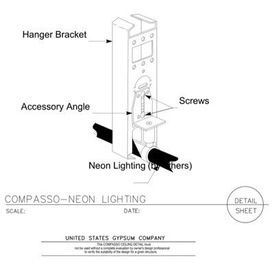 09 54 00.13.139 Specialty Ceilings Compasso K Neon Lighting