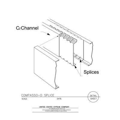 09 54 00.13.146 Specialty Ceilings Compasso D Splice