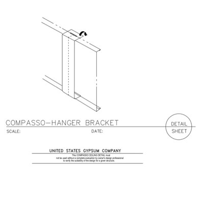 09 54 00.13.211 Specialty Ceilings Compasso A Hanger Bracket