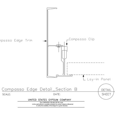 09 54 00.1318 Specialty Ceilings Compasso Edge Section B